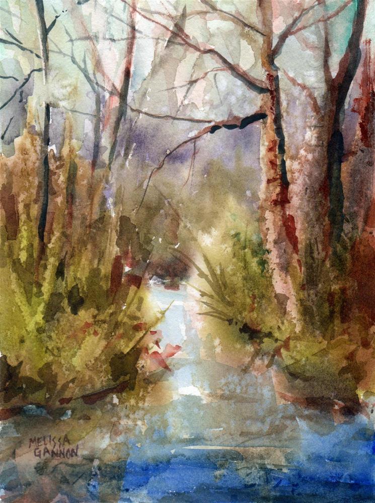 """""""Forest Conversation"""" original fine art by Melissa Gannon"""