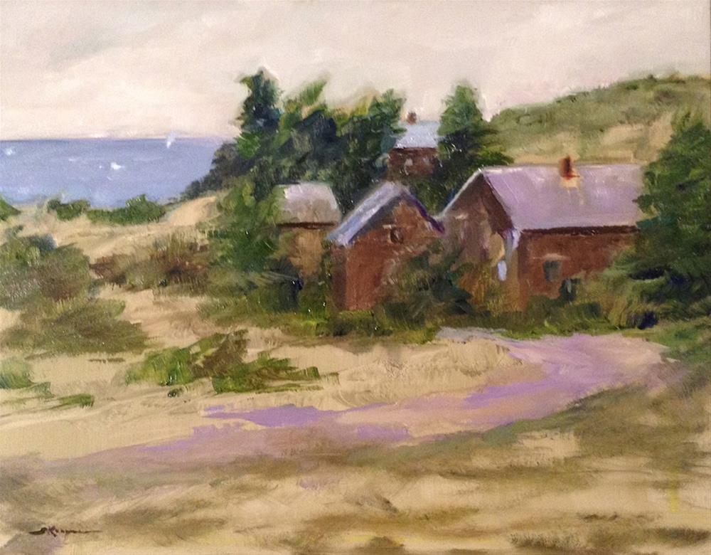 """""""Island Houses"""" original fine art by Shelley Koopmann"""