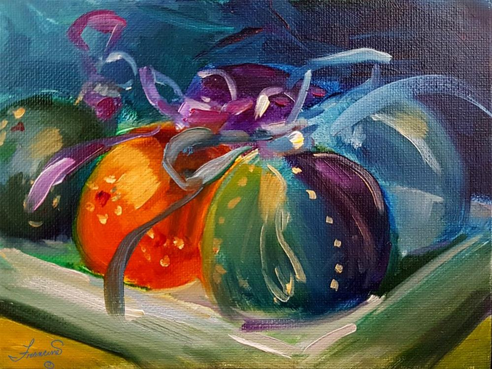 """Christmas Ornaments"" original fine art by Francine Dufour~Jones"