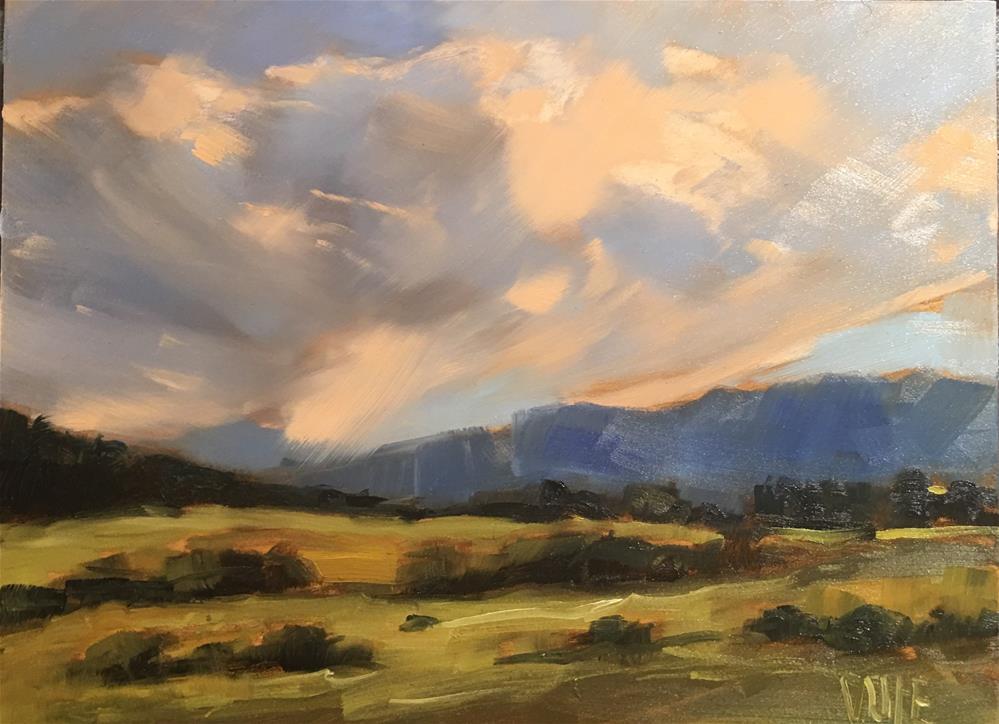"""#384 Passing Storm"" original fine art by Patty Voje"