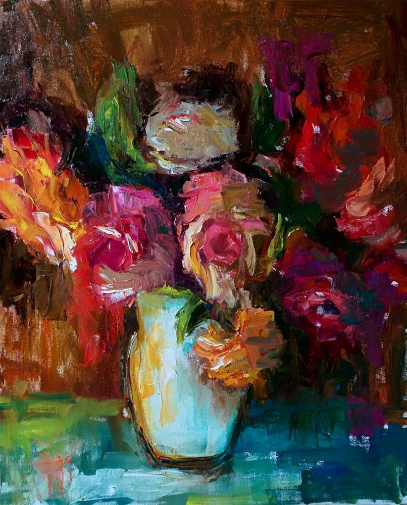 """ Roses"" original fine art by pepa sand"