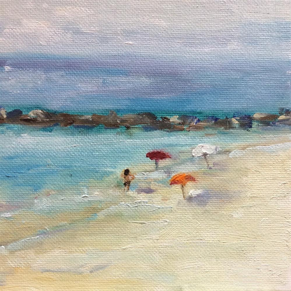 """By the sea"" original fine art by Peggy Schumm"