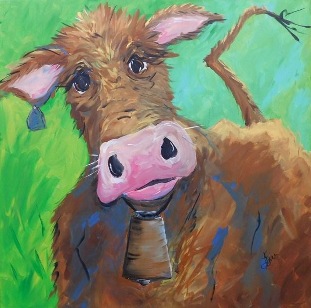 """""""Chocolate Milk"""" original fine art by Terri Einer"""