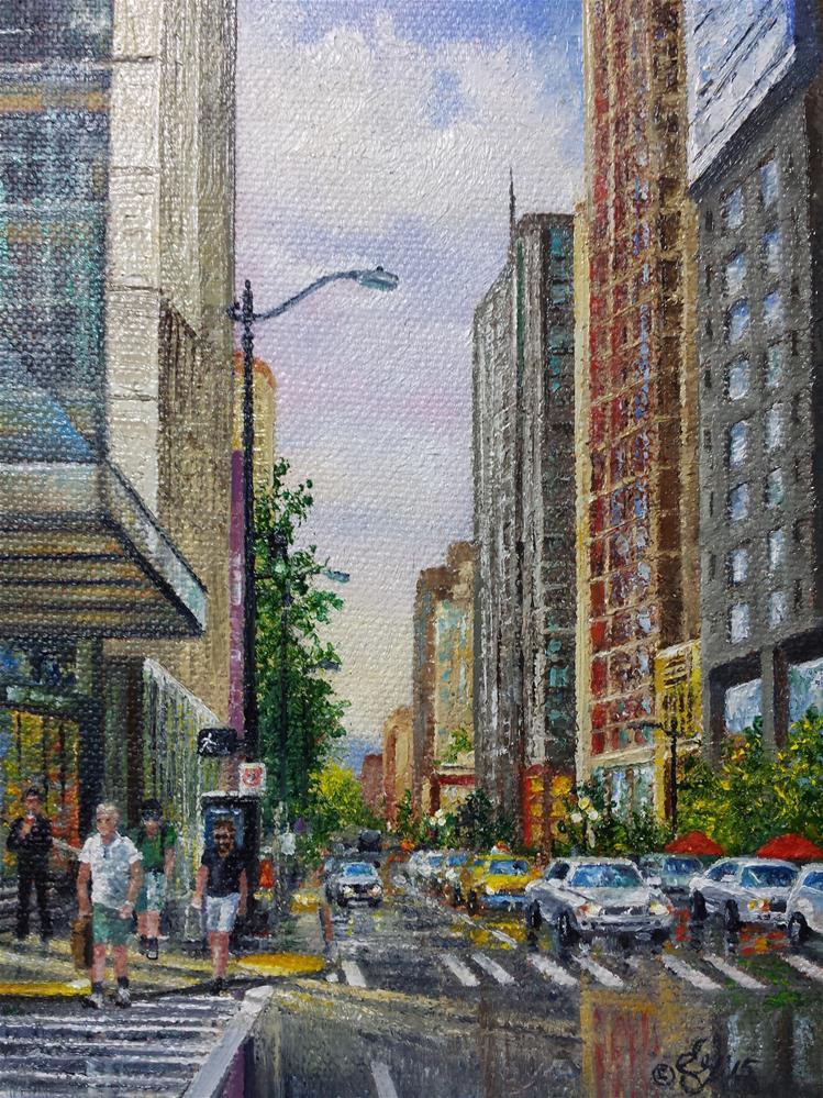 """Urban Activity"" original fine art by Elaine Guitar van Loo"