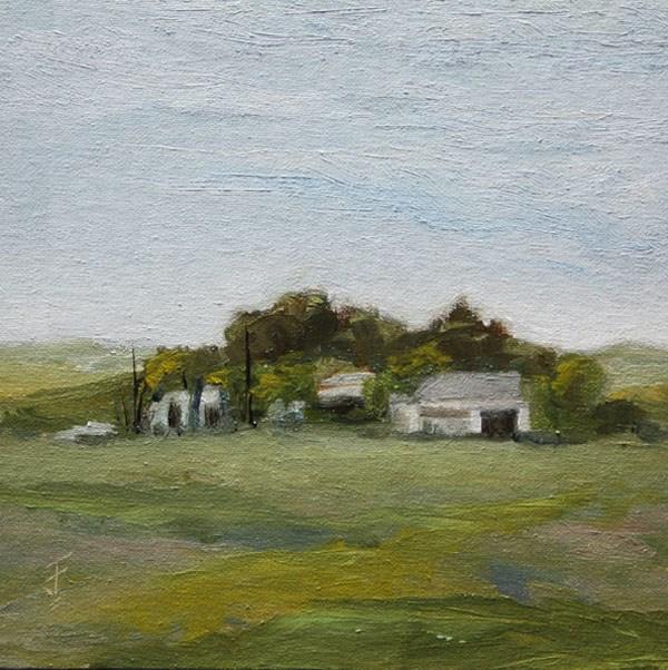 """Passing Farm"" original fine art by Jane Frederick"