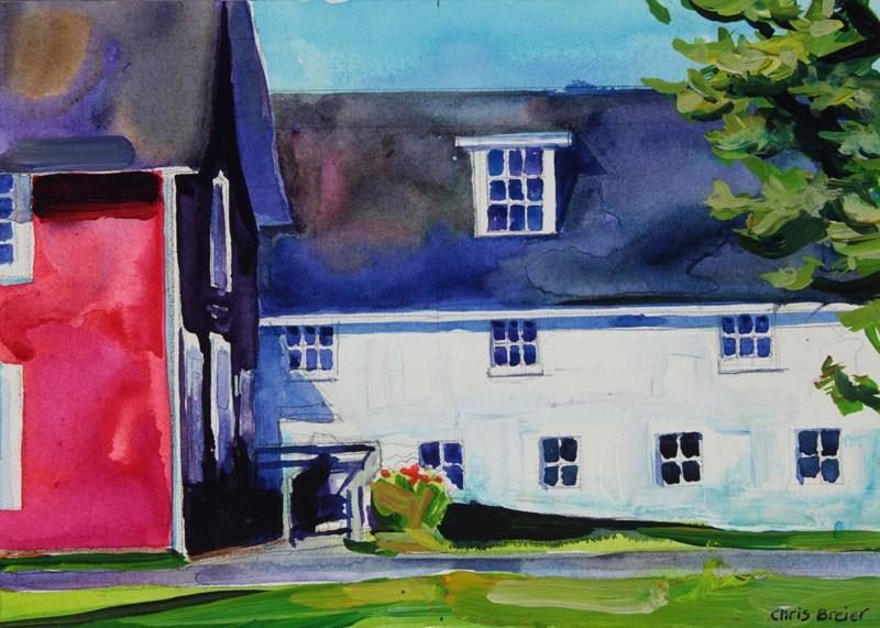 """Barns"" original fine art by Chris Breier"