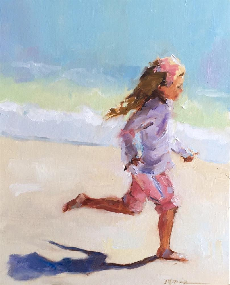 """""""Running Like the Wind"""" original fine art by Marcia Hodges"""