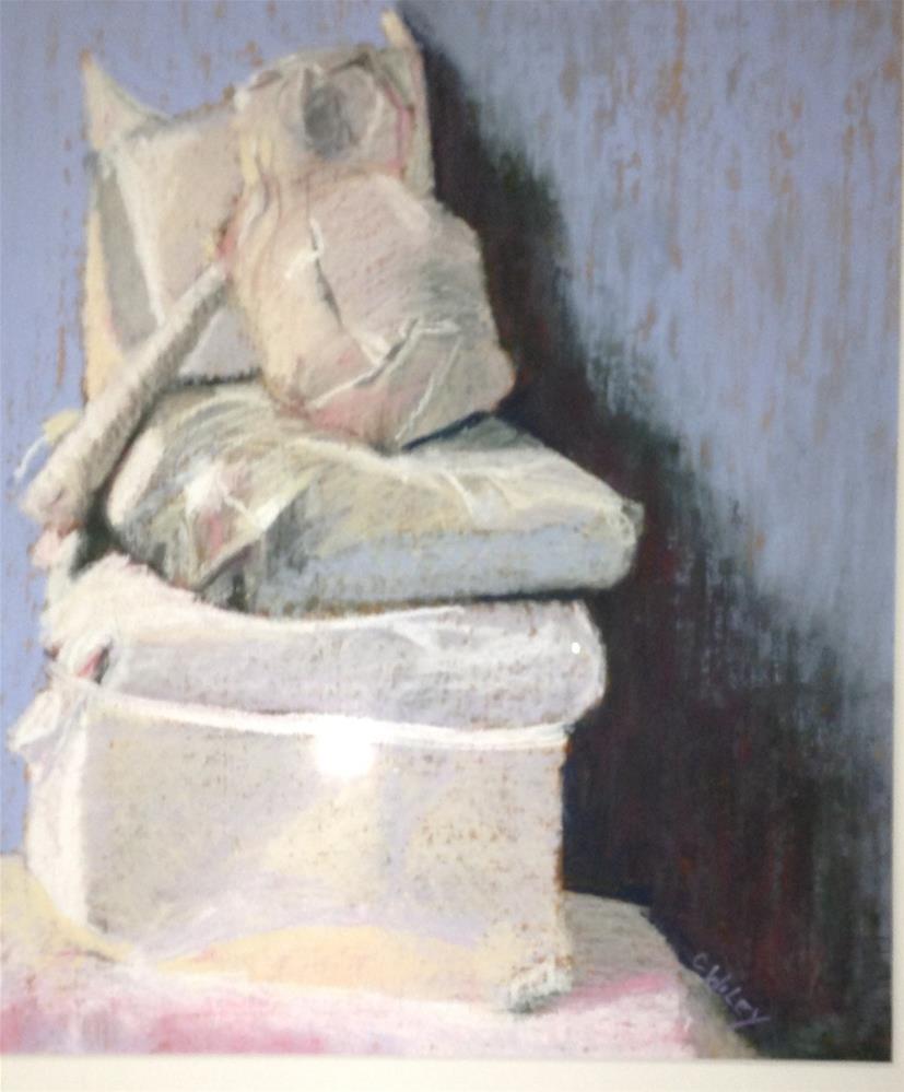 """Still Life in White"" original fine art by Carol Wiley"