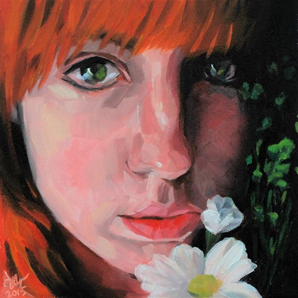 """Daisy"" original fine art by Janette Harter"