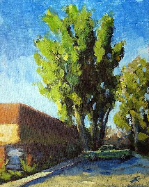 """""""HQ"""" original fine art by J. Farnsworth"""