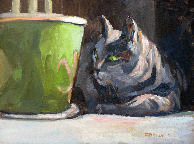 """""""Focused Morning"""" original fine art by Dave Froude"""