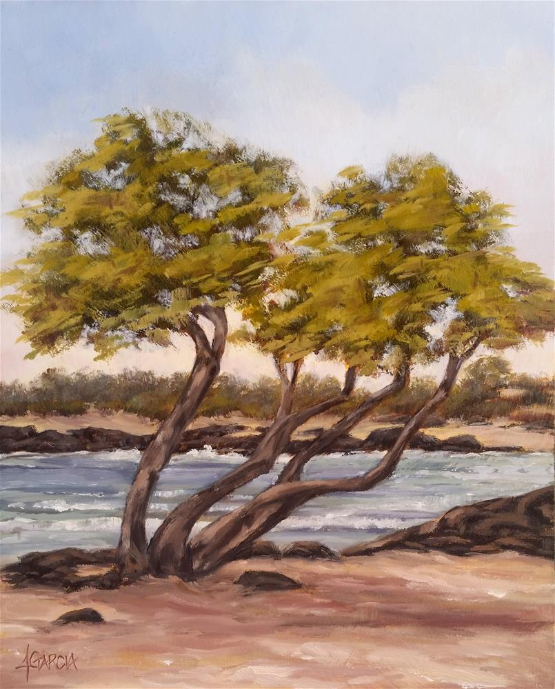 """""""Trees at Old A's"""" original fine art by Jeannie Garcia"""