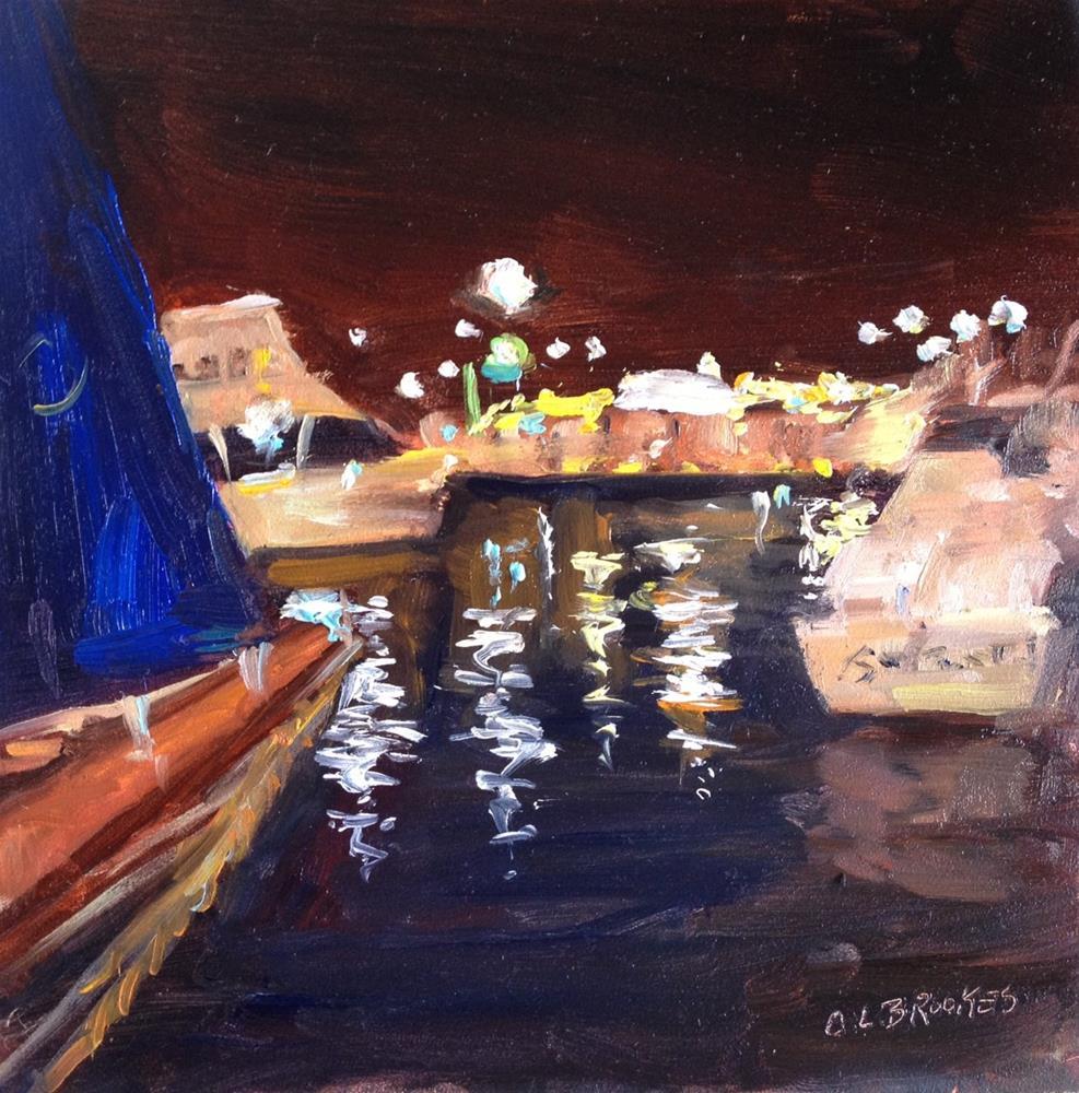 """Ego Alley Nocturne"" original fine art by Claudia L Brookes"