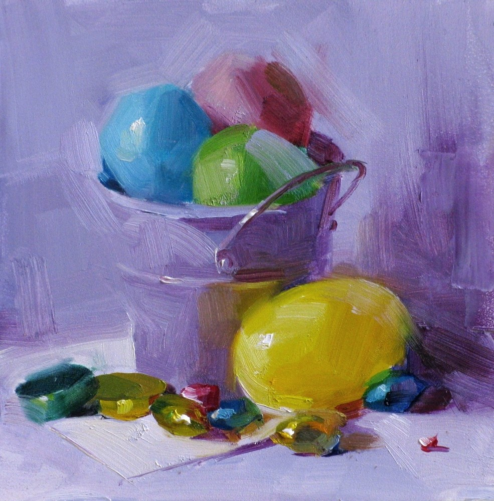 """Color of Easter"" original fine art by Qiang Huang"
