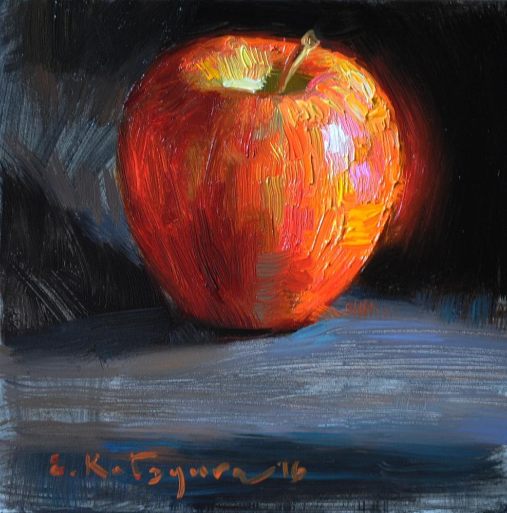 """Glowing Apple"" original fine art by Elena Katsyura"