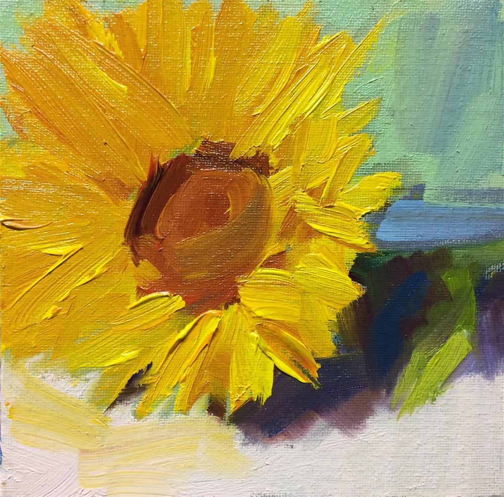 """""""Single Sun Flower"""" original fine art by Naomi Bautista"""
