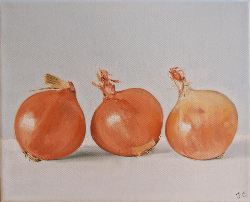 """Three Onions"" original fine art by James Coates"