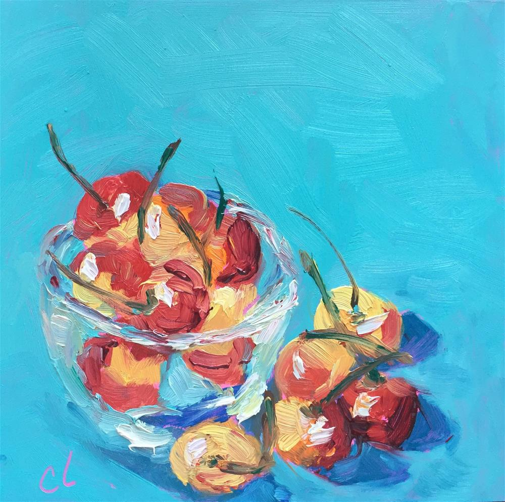 """Lay off them Cherries"" original fine art by Cheree Apalona Lueck"