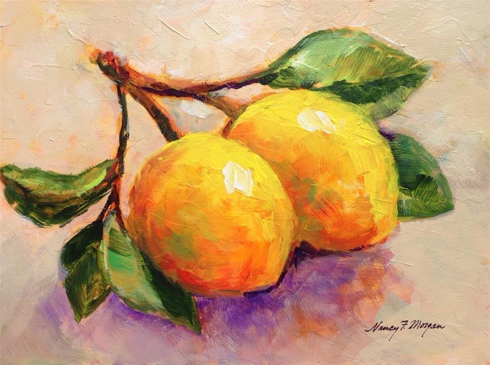 """Lemon Branch"" original fine art by Nancy F. Morgan"