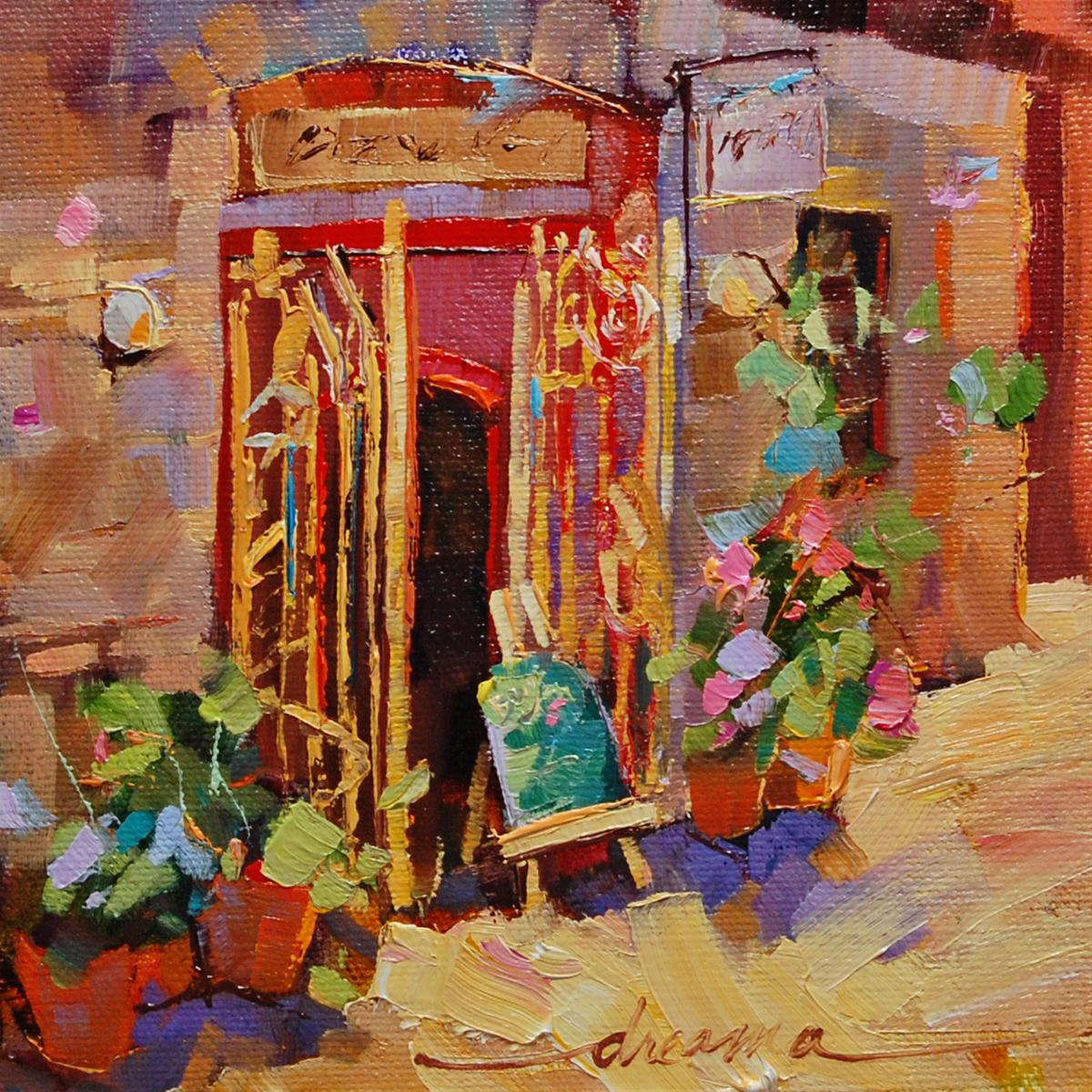 """""""Bonjour!"""" original fine art by Dreama Tolle Perry"""