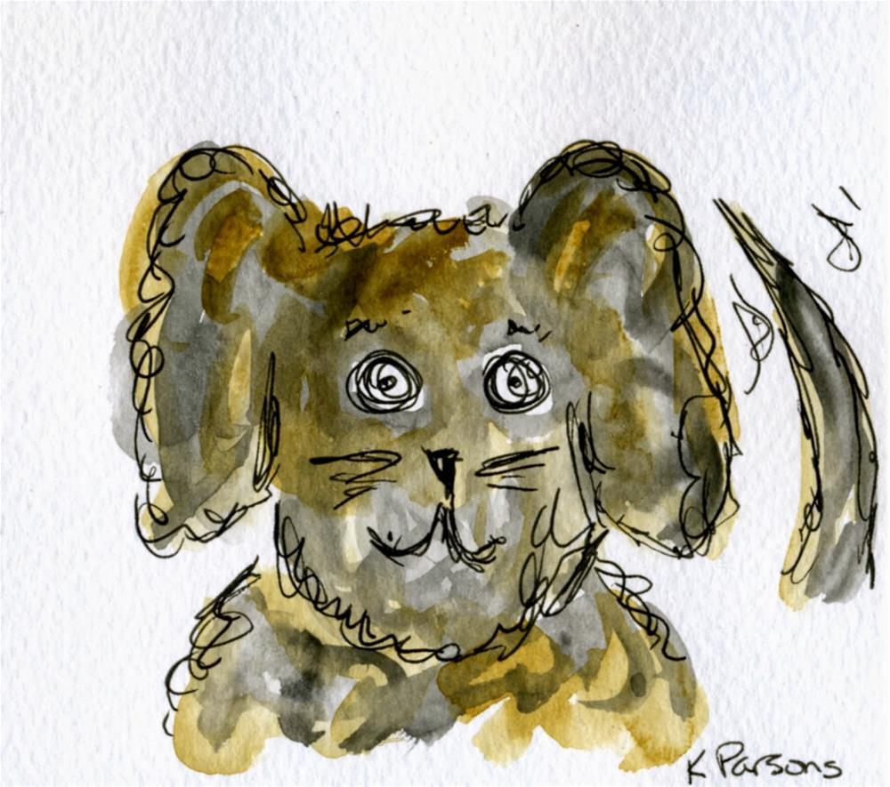 """Tail Waggin' Happy"" original fine art by Kali Parsons"