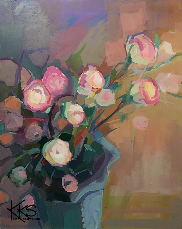 """Spray Roses"" original fine art by Kimberly Santini"