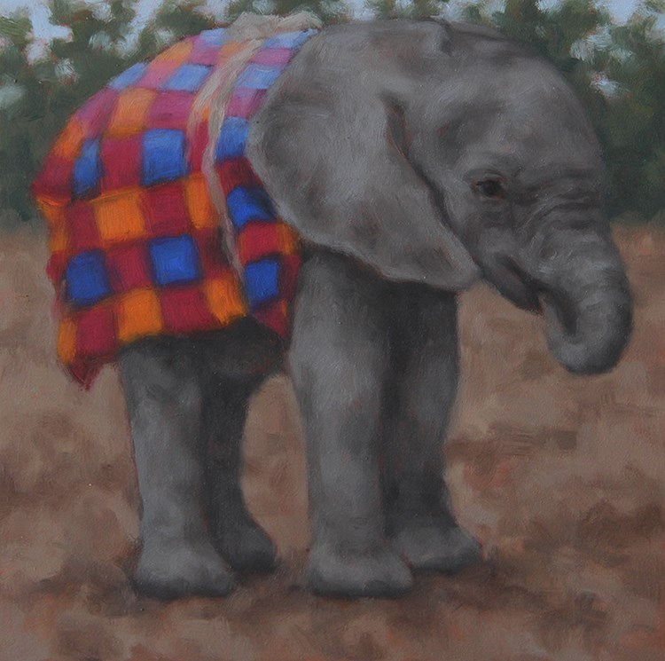 """Baby Elephant "" original fine art by Sarah Becktel"