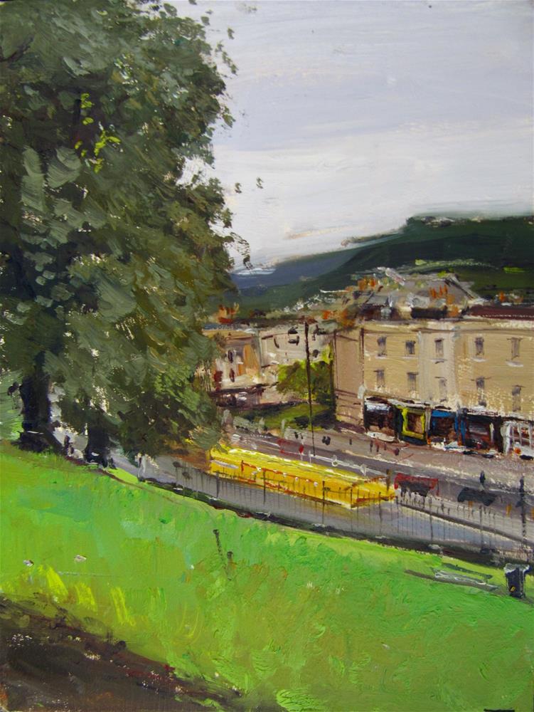 """City of Bath Landscape 13"" original fine art by Adebanji Alade"