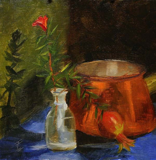 """Copper Glow"" original fine art by Jane Frederick"