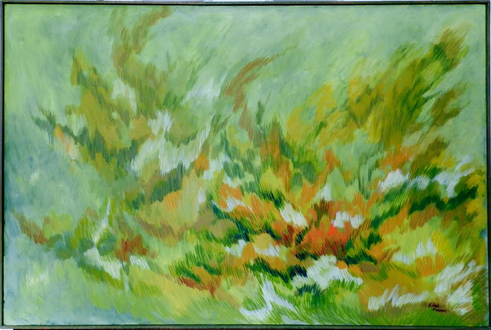 """Symphony in Greens"" original fine art by Velma Davies"