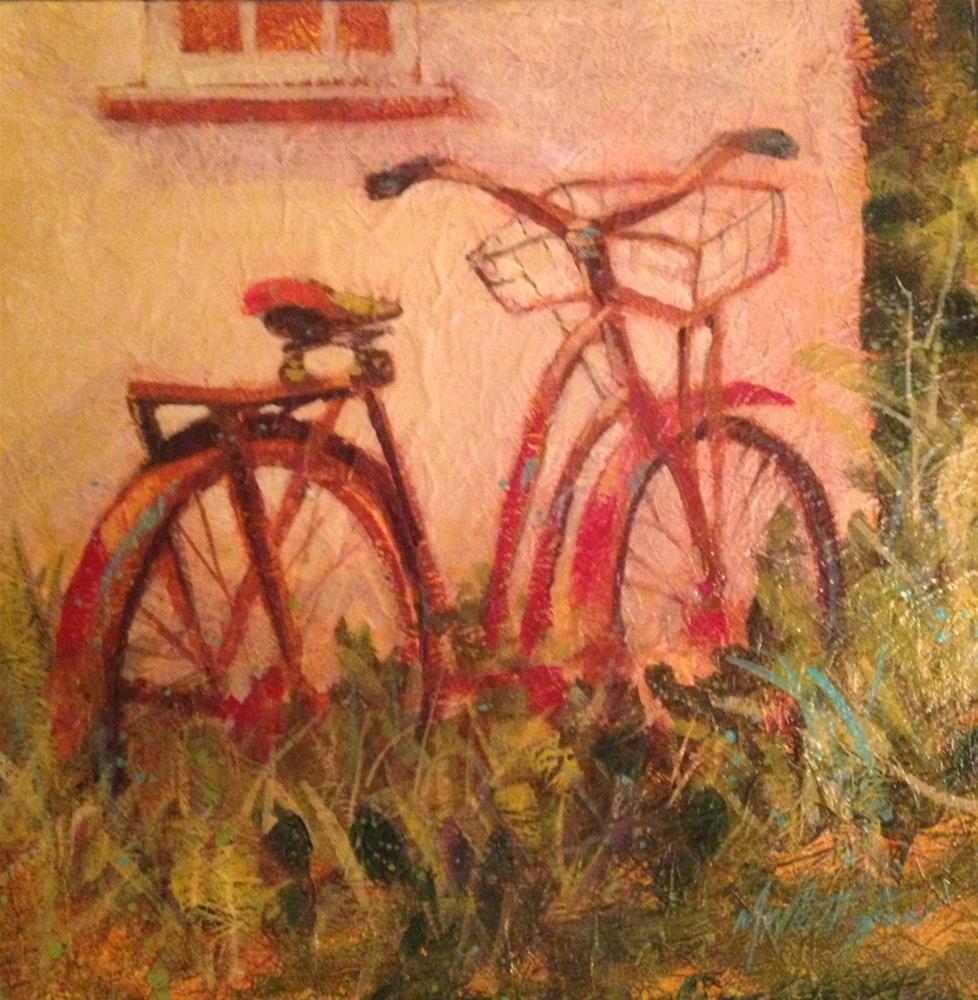"""Bike"" original fine art by Margie Whittington"