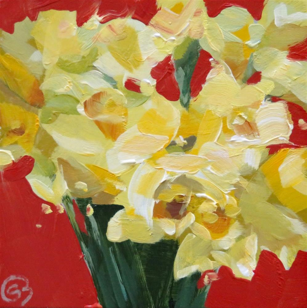 """Daffodils"" original fine art by Shari Buelt"