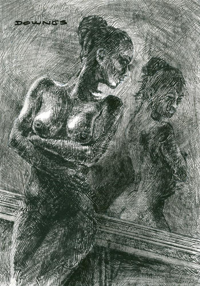 """319 LIFE DRAWING 33"" original fine art by Trevor Downes"