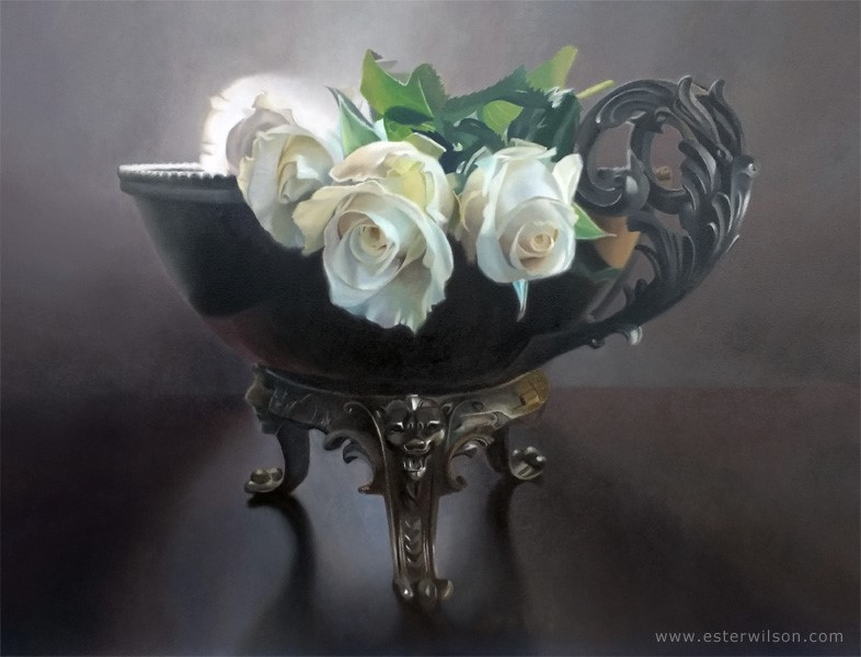 """Bowl of Light"" original fine art by Ester Wilson"