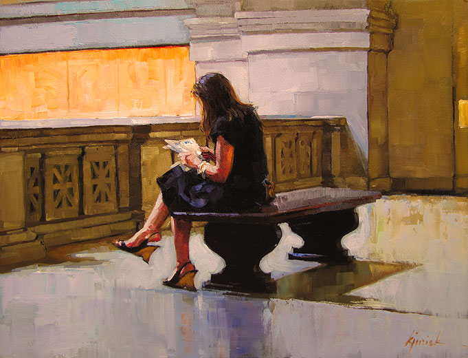 """Seating Arrangement"" original fine art by Karin Jurick"