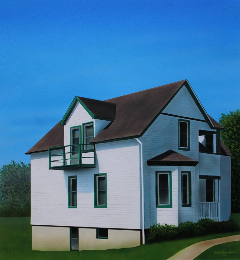 """House on Second Street"" original fine art by Fred Schollmeyer"