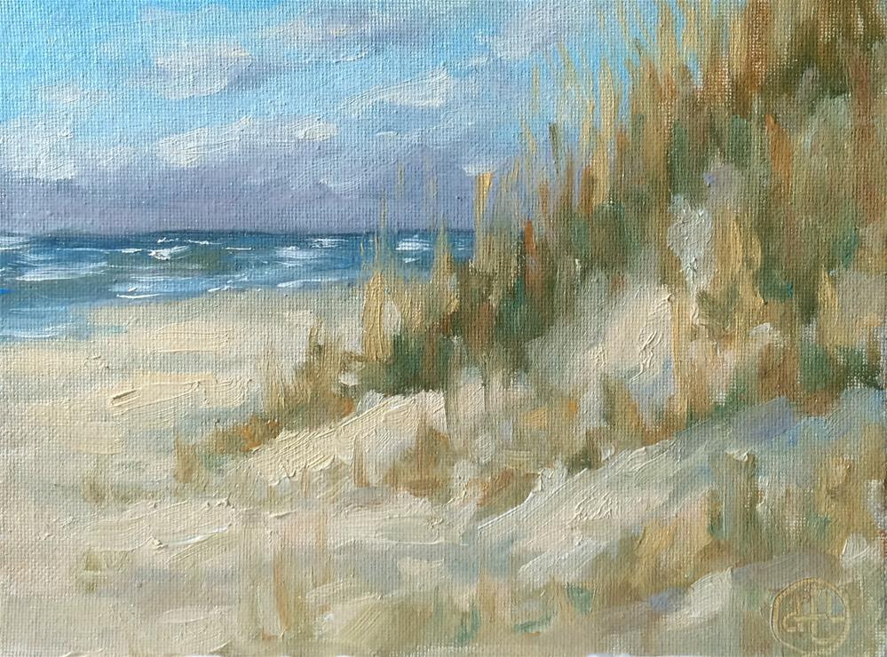 """dunes at daybreak"" original fine art by Dottie  T  Leatherwood"