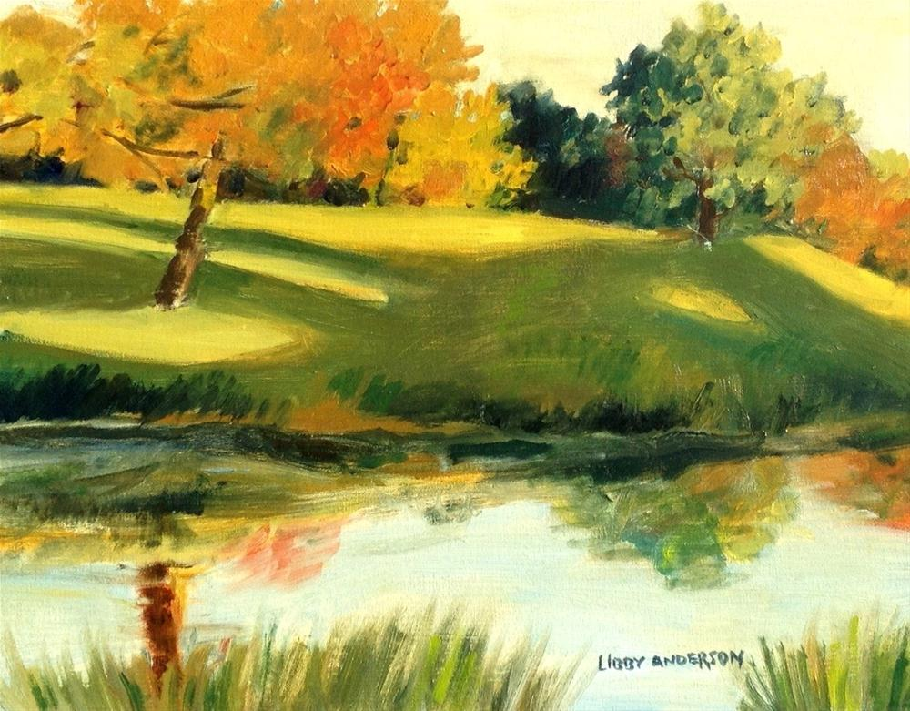 """""""On The Course"""" original fine art by Libby Anderson"""