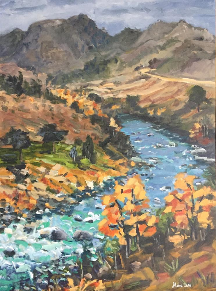"""Yellowstone River"" original fine art by Alina Vidulescu"
