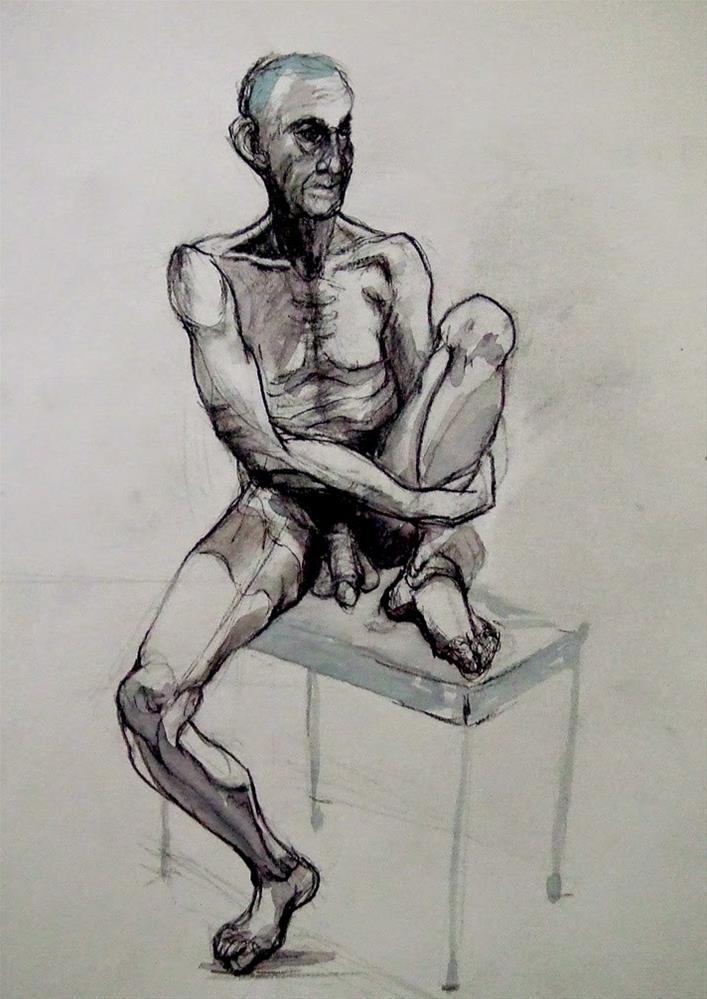 """""""18Jan"""" original fine art by Mitsuru Cope"""