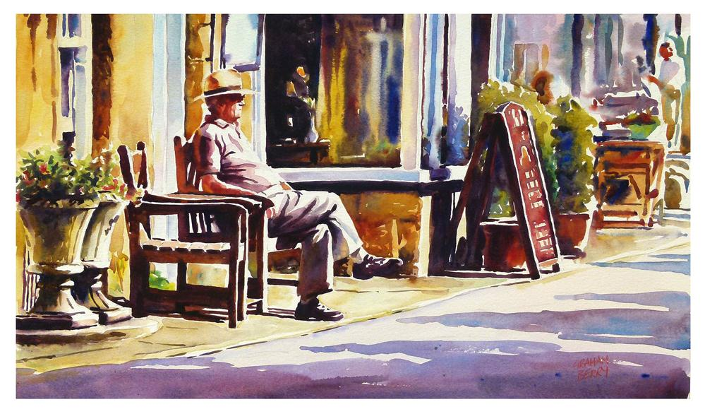 """Enjoying the sun."" original fine art by Graham Berry"
