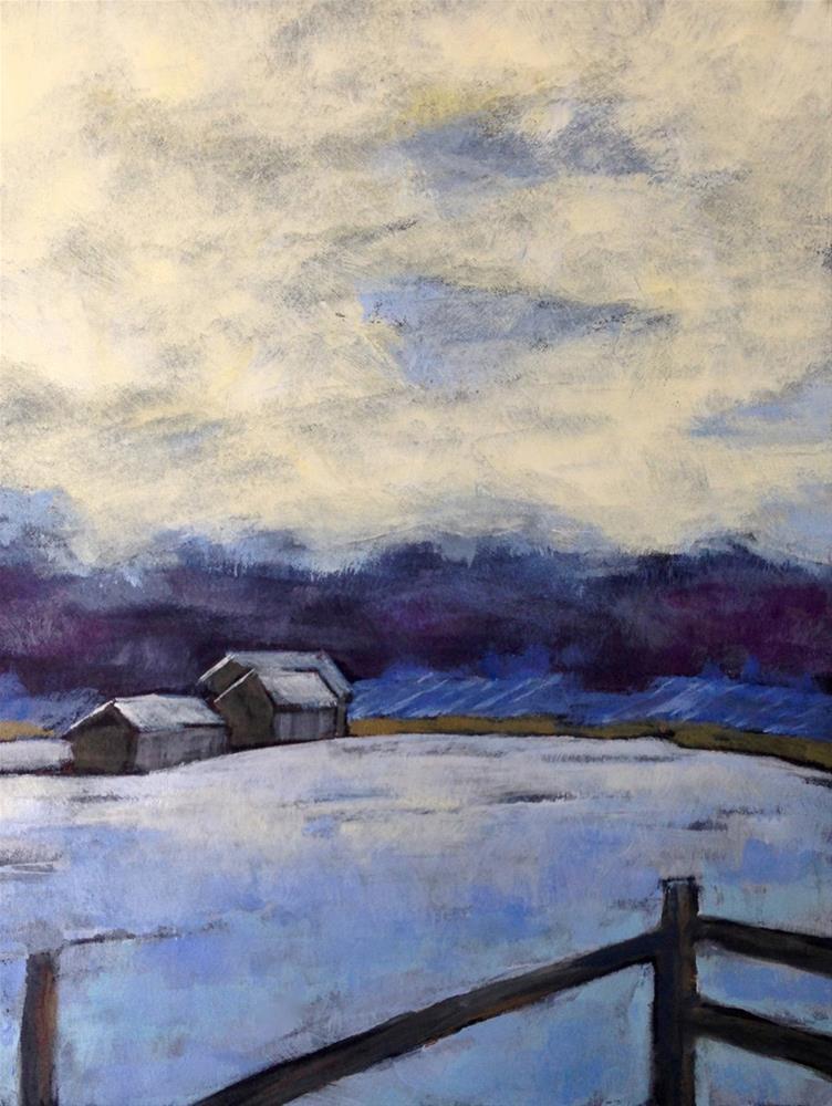 """""""Winter White"""" original fine art by Eileen Hennemann"""