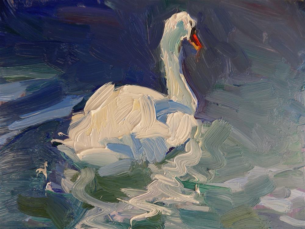 """Mute Swan"" original fine art by Rita Brace"