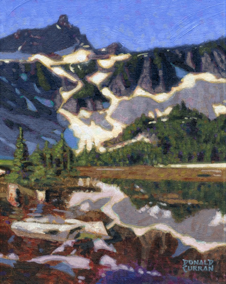 """Mountain Landscape"" original fine art by Donald Curran"