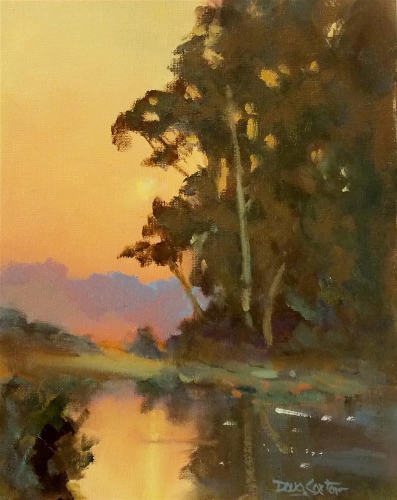 """ A QUIET PLACE "" original fine art by Doug Carter"