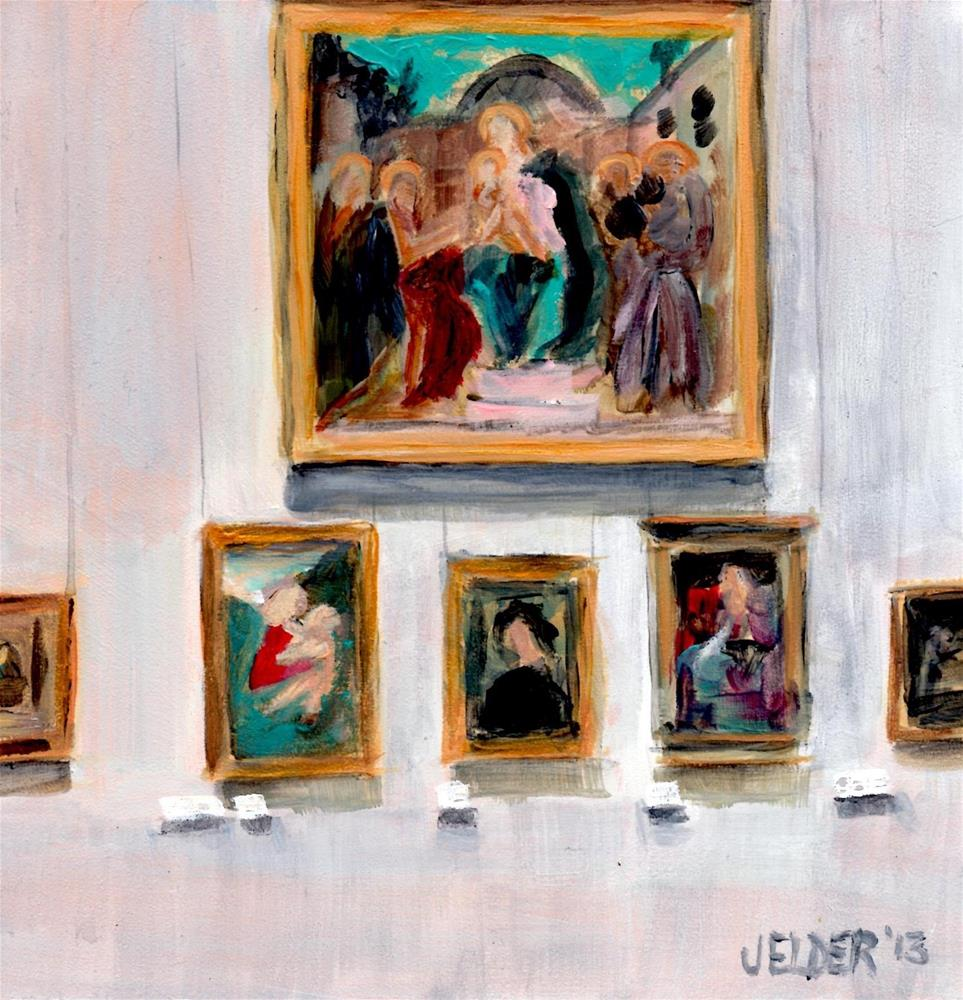 """Louvre No. 4"" original fine art by Judith Elder"