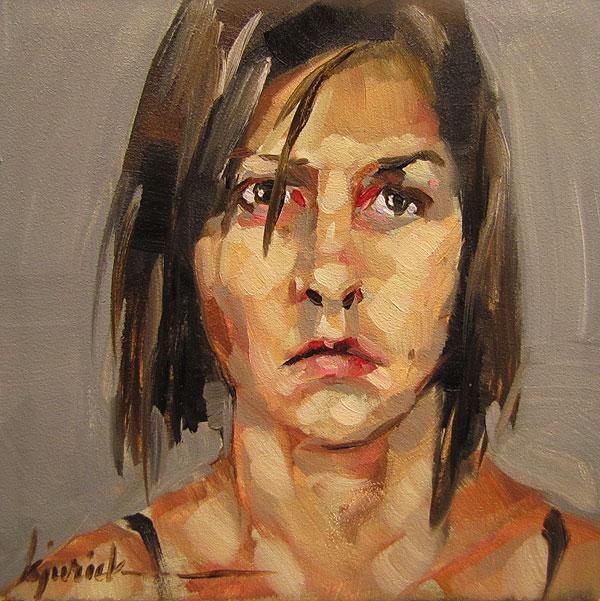 """100 Faces, No. 8"" original fine art by Karin Jurick"