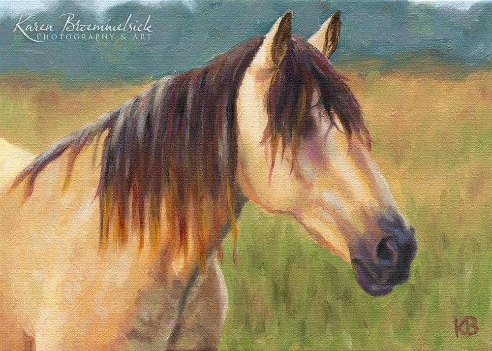 """""""Buckskin"""" original fine art by Karen Broemmelsick"""