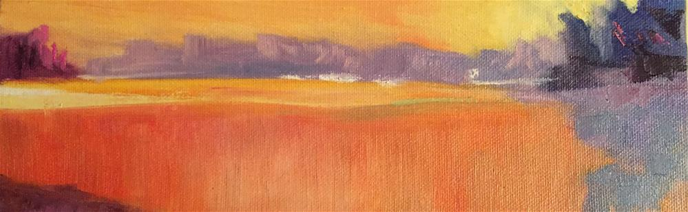 """Spring Sunset"" original fine art by Angela Hansen"