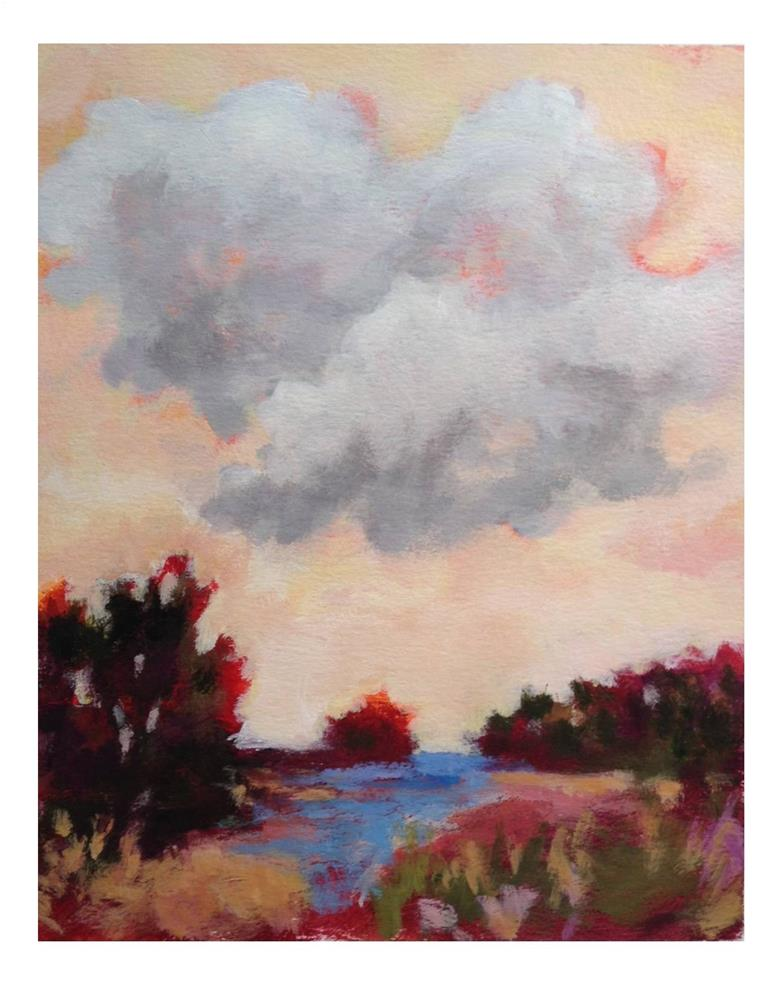 """Orange Sky"" original fine art by Suzanne Woodward"